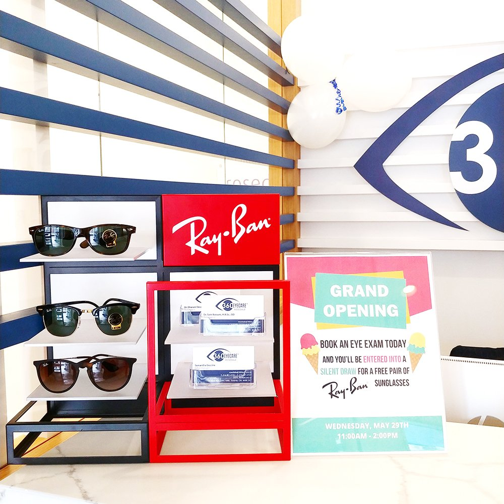 360 Eyecare Rosedale Grand Opening - Optometry Clinic Ray Ban Giveaway