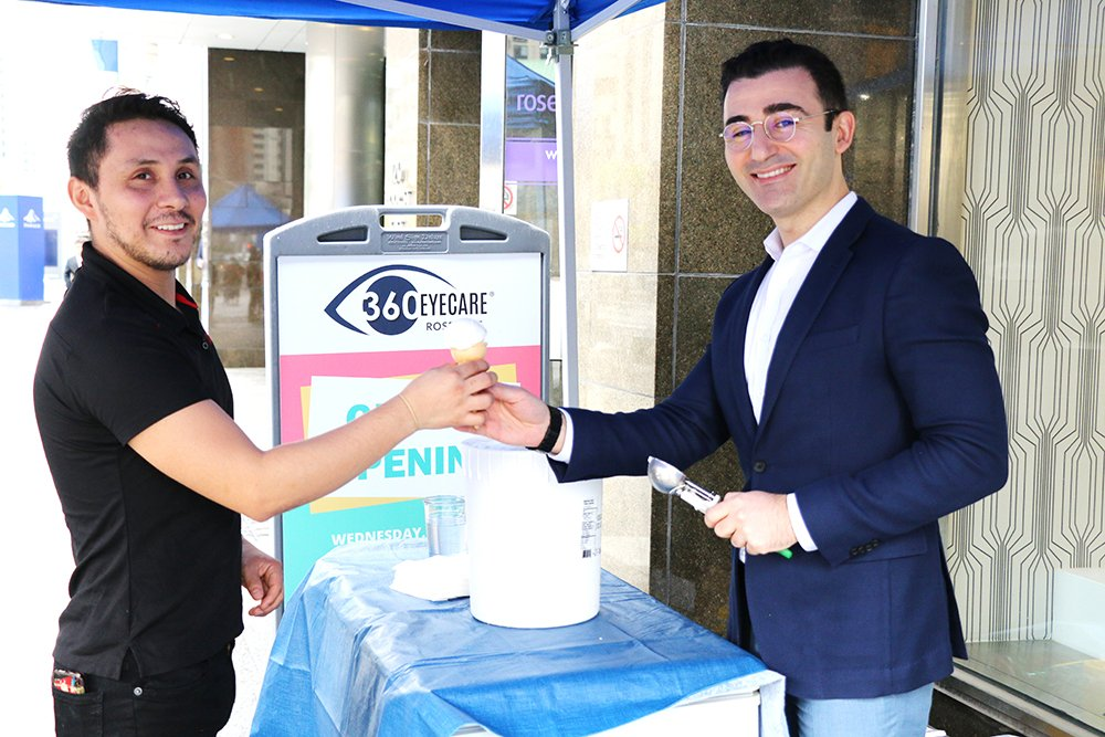 360 Eyecare Rosedale Grand Opening - Optometry Clinic Free Icecream