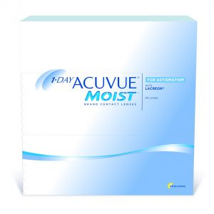 1-DAY ACUVUE® MOIST for Astigmatism (90 Pack) Daily Contact Lenses