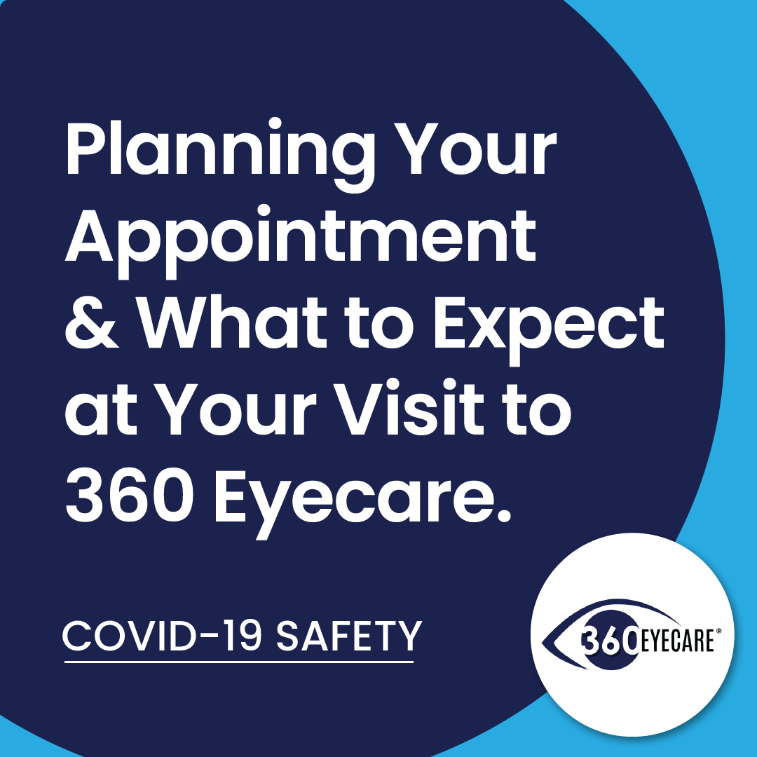 Planning Your Appointment & What to Expect at Your Visit to 360 Eyecare - Covid19 Safety - 360 Eyecare