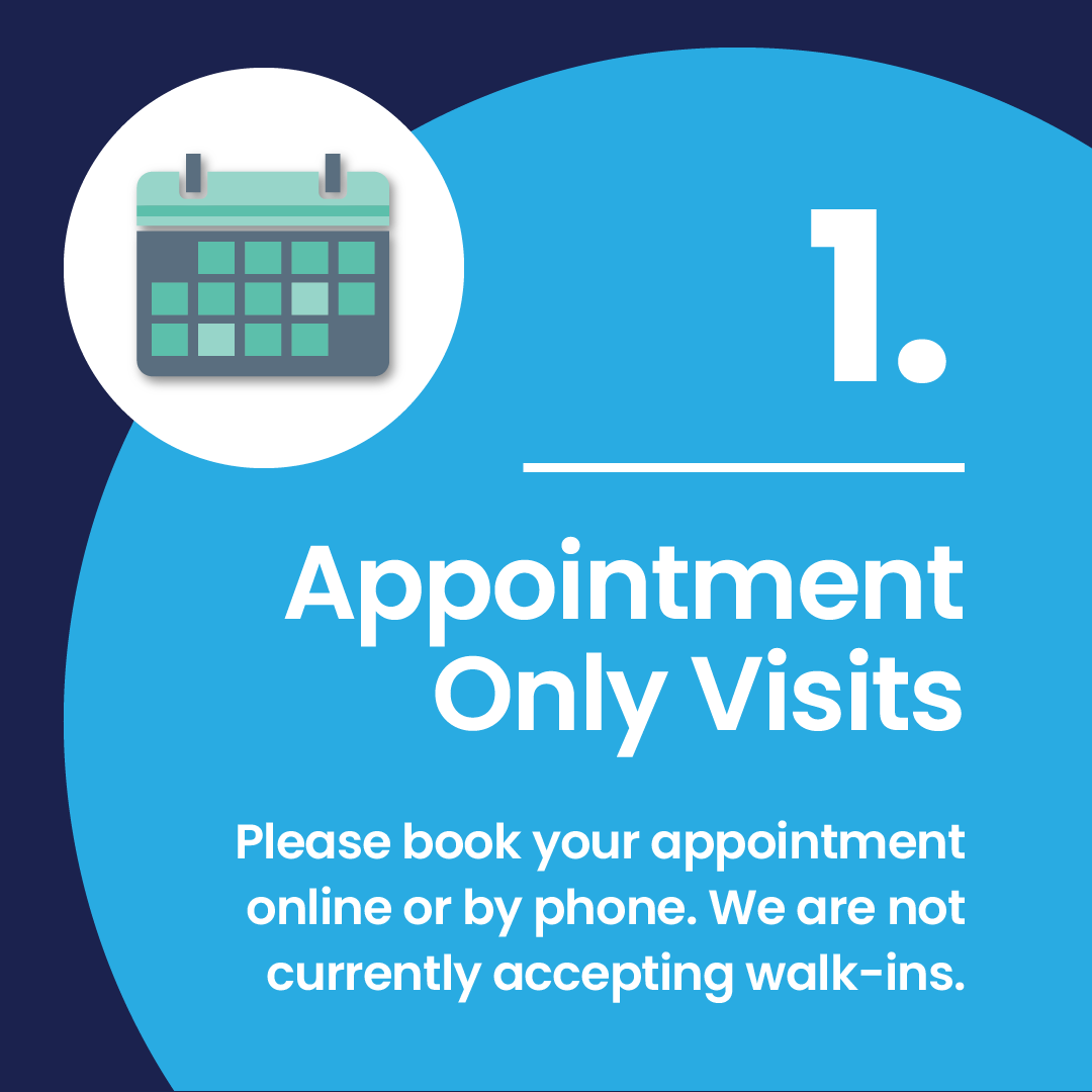 Appointment Only Visits - Covid19 Safety - 360 Eyecare